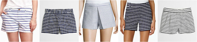 "Relaxed Mid-Rise Shorts for Women (3 1/2"") • Old Navy • $18 (reg $23) Factory 3"" printed boardwalk pull-on short • J.Crew Factory • $32 (reg $55) BCBGeneration Striped Pleated Shorts, Blue/White • BCBGeneration • $34 (reg $68) Maison Jules Breton Striped Shorts, Only at Macy's • Maison Jules • $40 (reg $50) - extra 20% off with code SUMMER, ends 6/8 Factory 4"" striped pull-on short • J.Crew Factory • $43 (reg $60)"