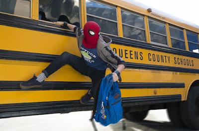spiderman infinity war school bus
