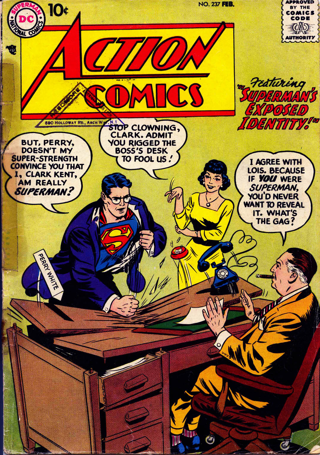 Read online Action Comics (1938) comic -  Issue #237 - 1
