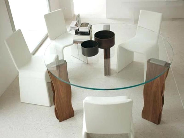 Pedestal Dining Tables Pedestal Dining Tables glass dining table centerpieces base pedestal wood tables kitchen seat white wall ceramic floor 60