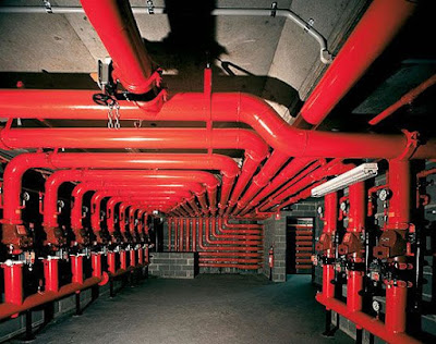 The fire pump room