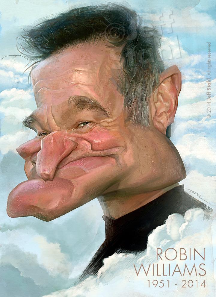 """""""Robin Williams"""" por Jeff Stahl"""
