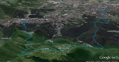 Hike overview; Nembro is on the left in the image