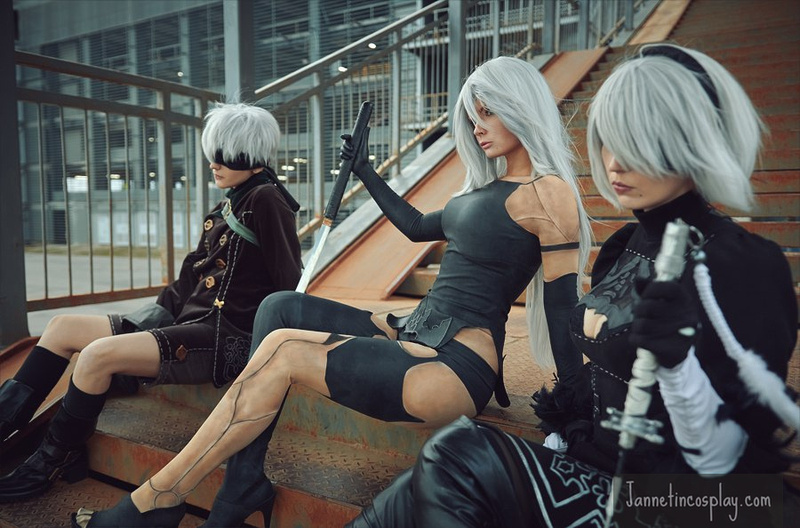jannet vinogradova sexy a2 from nier: automata cosplay 05