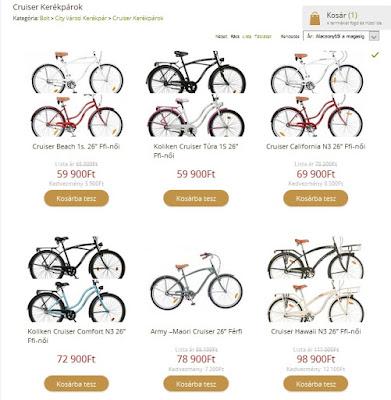 magyar kerékpár web áruház