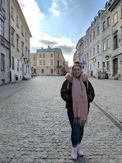 lublin old town in the sun
