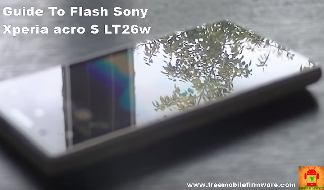 Sony Xperia acro S LT26w Jelly Bean 4.1.2 tested firmware