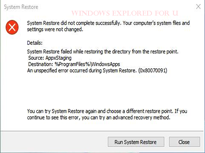 Windows 10 System Restore failed with error code 0x80070091 [Solution]