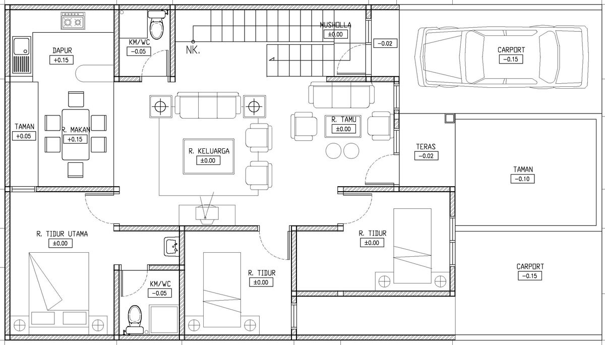 gambar denah rumah simple 2