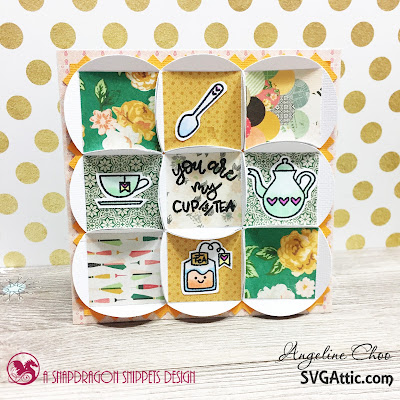 SVG Attic: You are my cup of Tea Patch card with Angeline #svgattic #scrappyscrappy #sweetstampshop #cratepaper #card #cardmaking #papercraft #patchcard #teatime