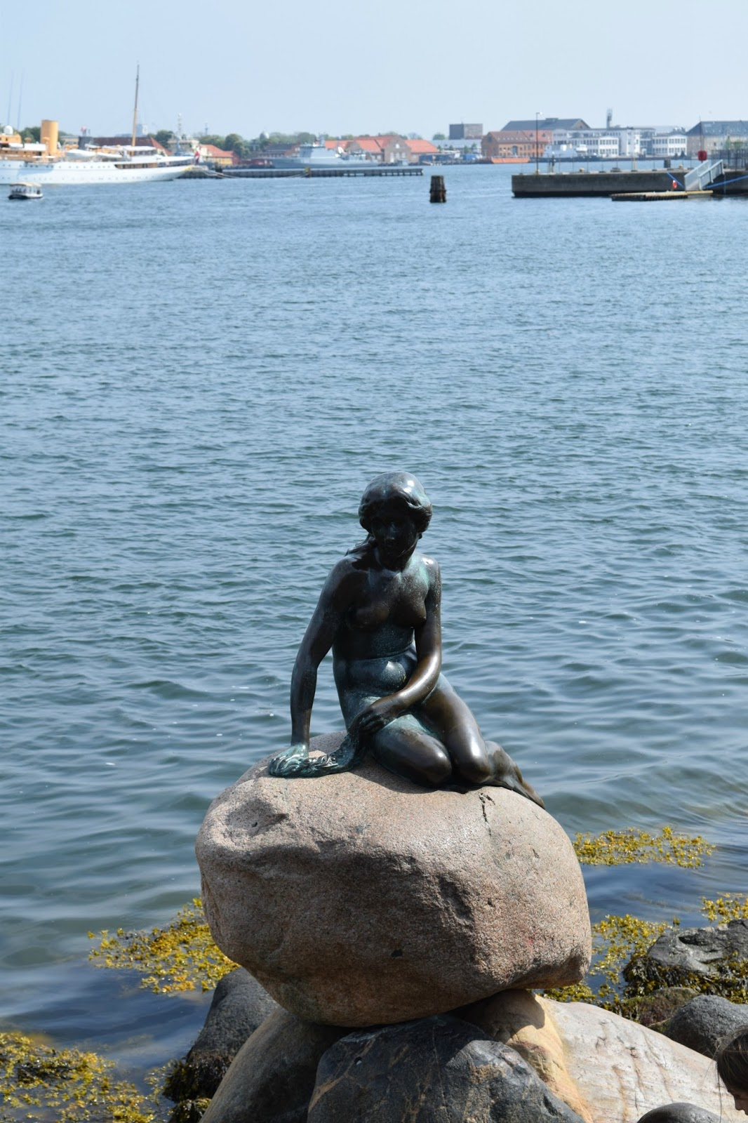 The Little Mermaid Statue at the Harbour in Copenhagen