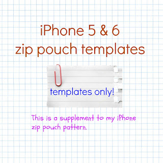 iPhone 5&6 zip pouch template
