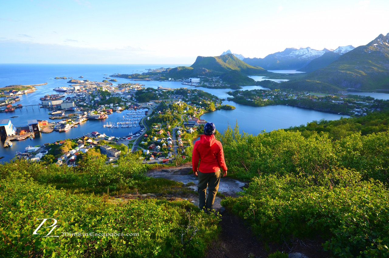 Appreciating the view over the town of Svolvaer