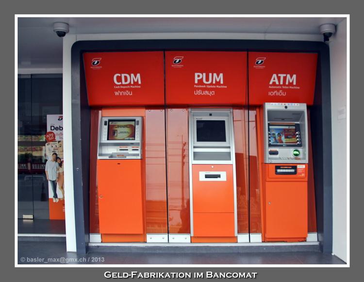 Bank, Bancomat, Baht, ATM, Geld
