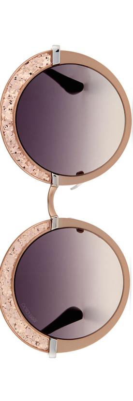 Jimmy Choo Gotha Round Shimmer Sunglasses