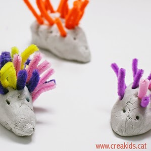 CreaKids: erizos de pasta de secado al aire