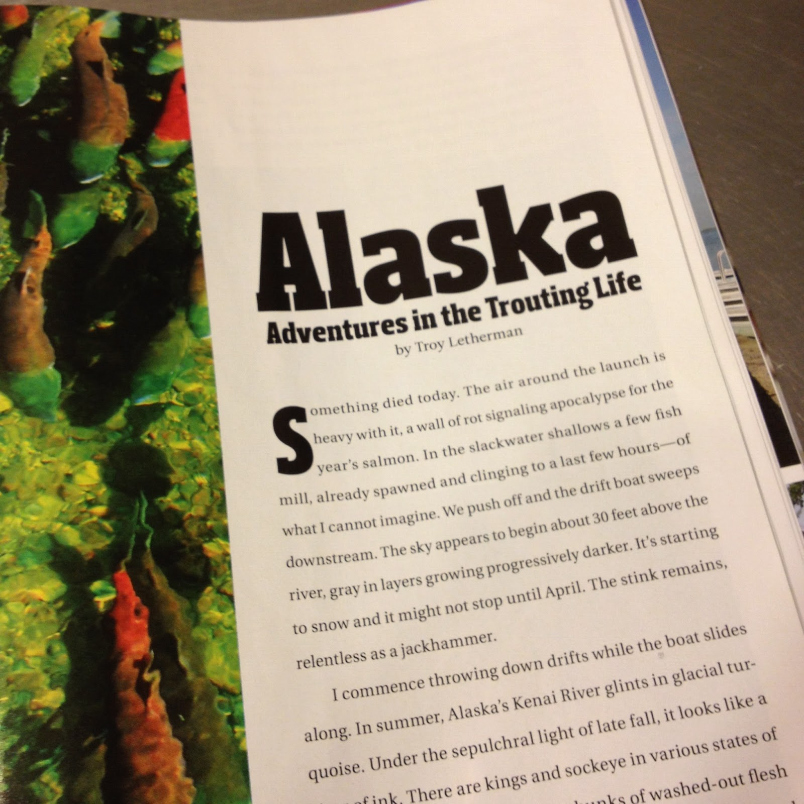 fly fishing blog sipping emergers 2012 the other day i a very satisfying essay in fly rod and reel alaska adventures in the trouting life by troy letherman