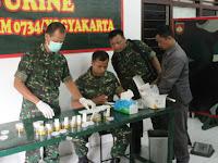 Puluhan Anggota Kodim Yogya Jalani Tes Urine