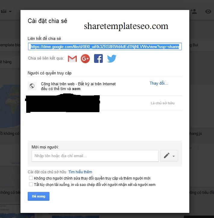 Hướng dẫn sử dụng drive làm hosting lưu trữ css và js cho blogspot