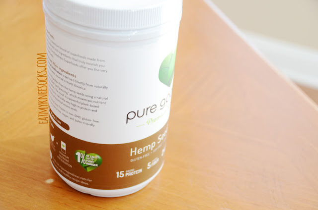 A review of the Pure Goodness Hemp Seed Protein powder in chocolate, a non-GMO, vegan, paleo-friendly, gluten-free, dairy-free, soy-free, low sugar protein powder that delivers both taste and nutrition. - Eat My Knee Socks / Mimchikimchi