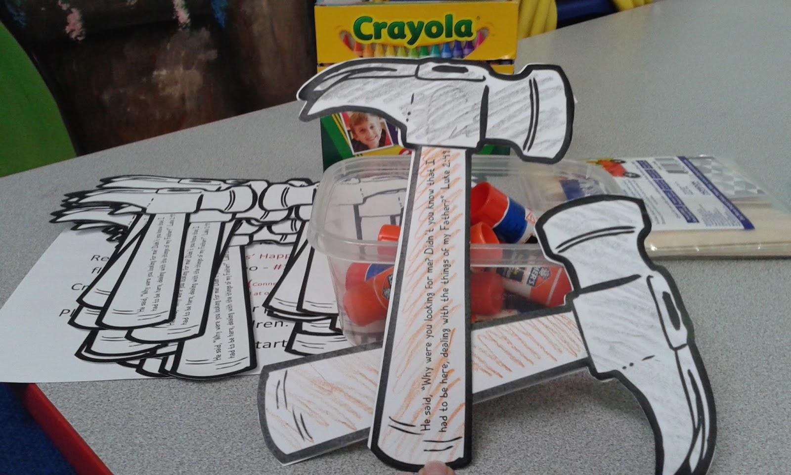 The Confident Journal: Sunday School Craft - Jesus Carpenter