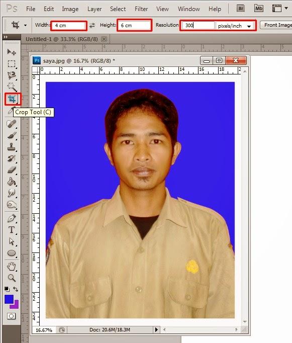 Cara Membuat Foto Ukuran 4x6, 3x4 dan 2x3