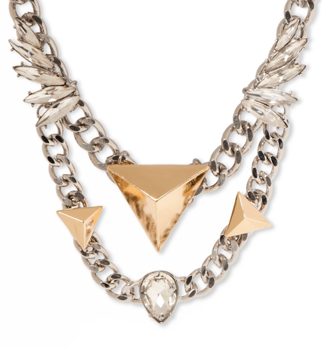 8 Other Reasons Bib Necklace with Gold Double Front Chain