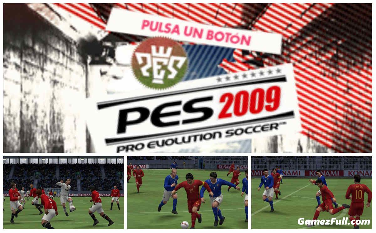 Capturas de pantalla Pro Evolution Soccer 2009 psp