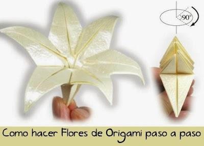 Como hacer una flor de origami el Lirio