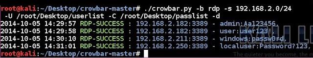 Crowbar - Brute Forcing Tool (SSH, OpenVPN, RDP, VNC