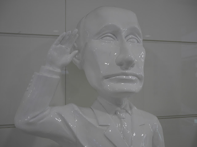statue of Vladimir Putin in Dalian, China