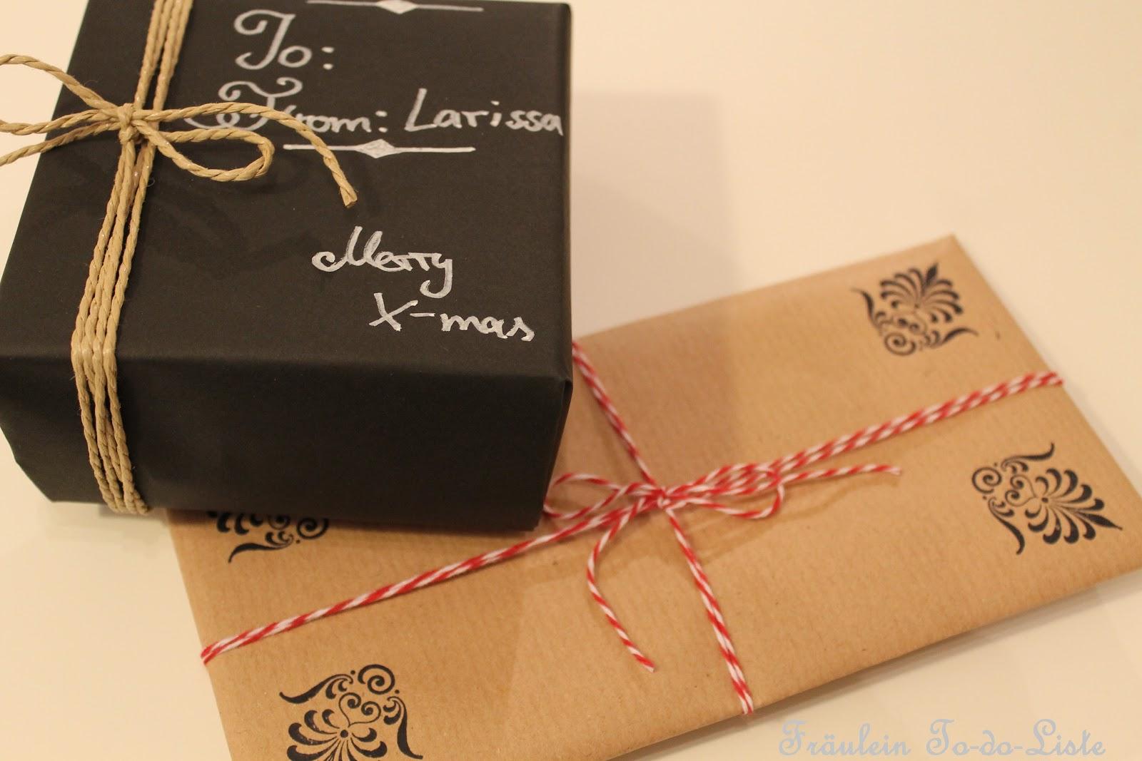 fr ulein to do liste geschenke einpacken macht ohne geschenkpapier gleich viel mehr spa. Black Bedroom Furniture Sets. Home Design Ideas