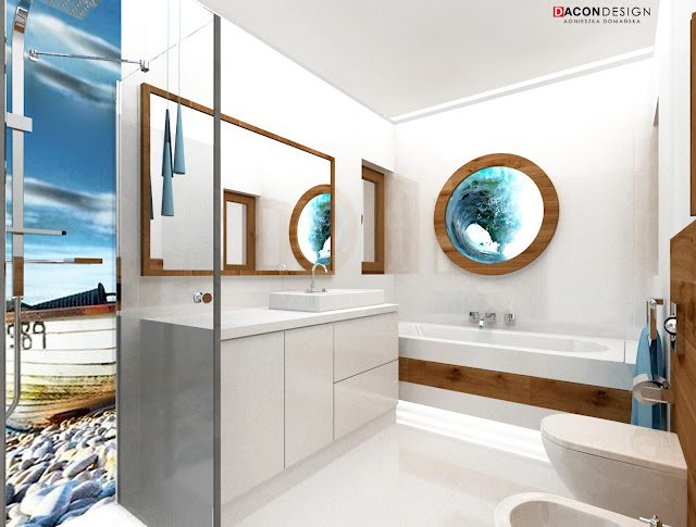 Dacon-Design-łazienka-morze-niebieski-wakacje-fale-drewno
