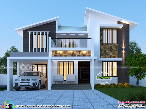 1750 Sq Ft 4 Bedroom Modern Contemporary Home Kerala Home Design And Floor Plans