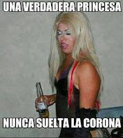 princesa corona cerveza meme