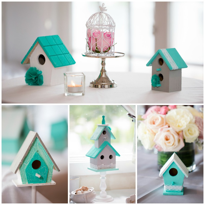 Shabby chic wedding bird house decor | Meet the B's