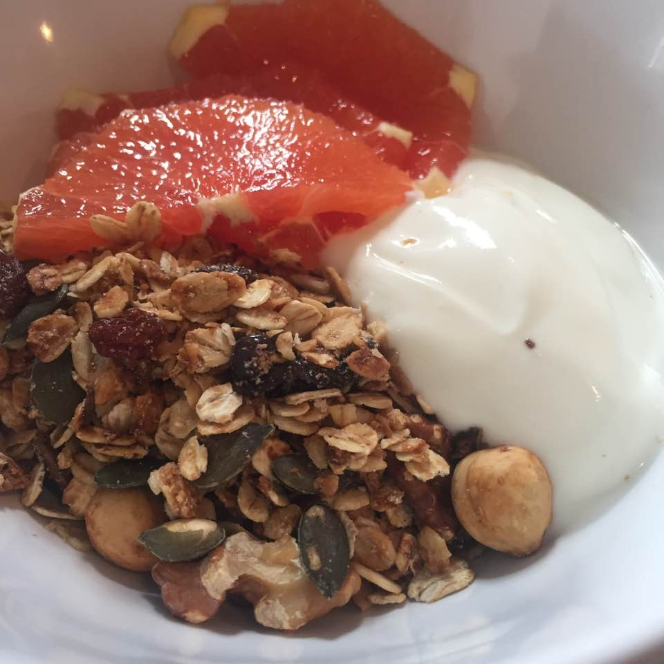 The Cook House Ouseburn | Breakfast with Kids - fruit, yoghurt and homemade granola