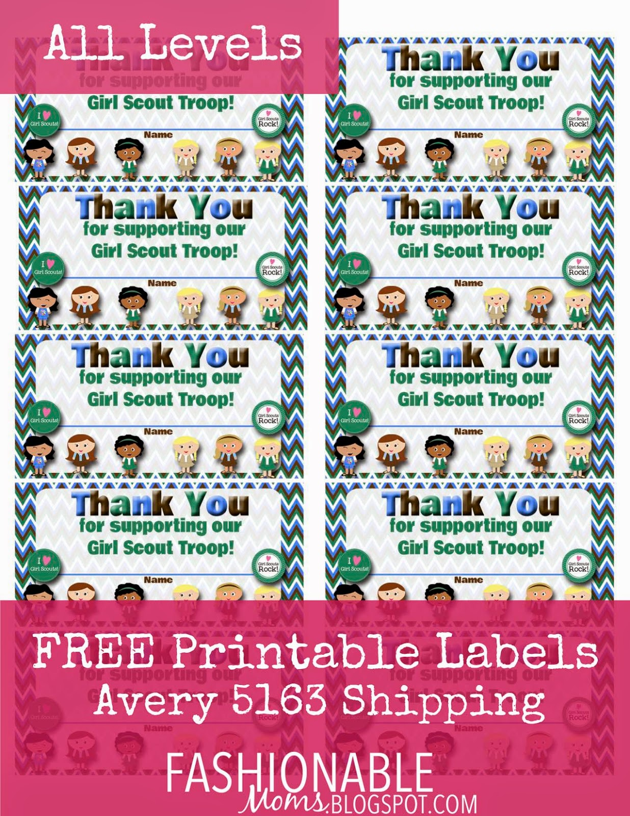 My Fashionable Designs: Free Printable: Thank You Labels ...