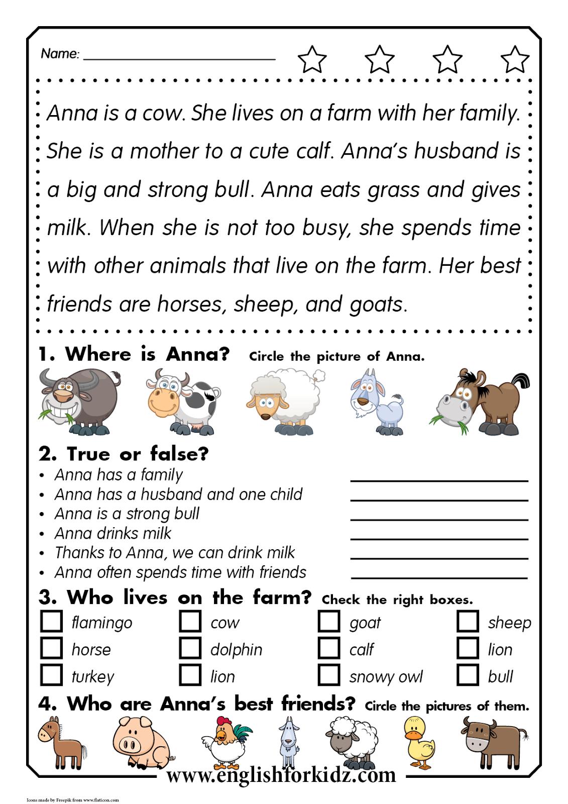 Reading Comprehension Kit. Animal Passages. Grades 1-3 [ 1600 x 1131 Pixel ]