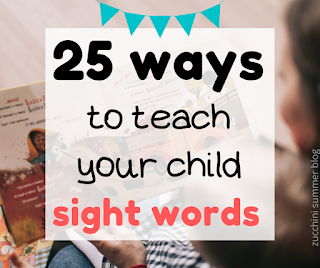 Sight words can be hard for children to learn! Here are 25 ways to help your child learn to read sight words: WITHOUT worksheets!