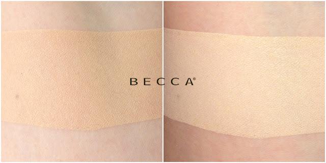 BECCA Skin Love Weightless Blur Foundation - swatche
