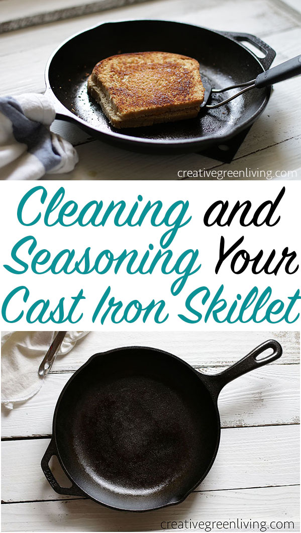 how to clean season care for cast iron pots pans creative green living. Black Bedroom Furniture Sets. Home Design Ideas