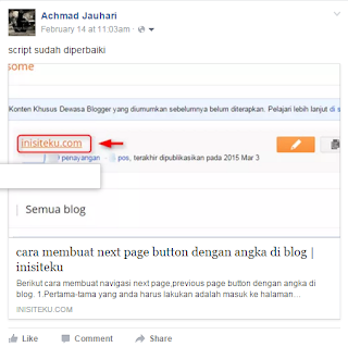 Memperbaiki facebook share button yang bermasalah