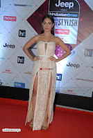 Nushrat Bharucha Looks stunning in a deep neck leg Split cream designer gown stunning beauty ~  Exclusive 005.JPG