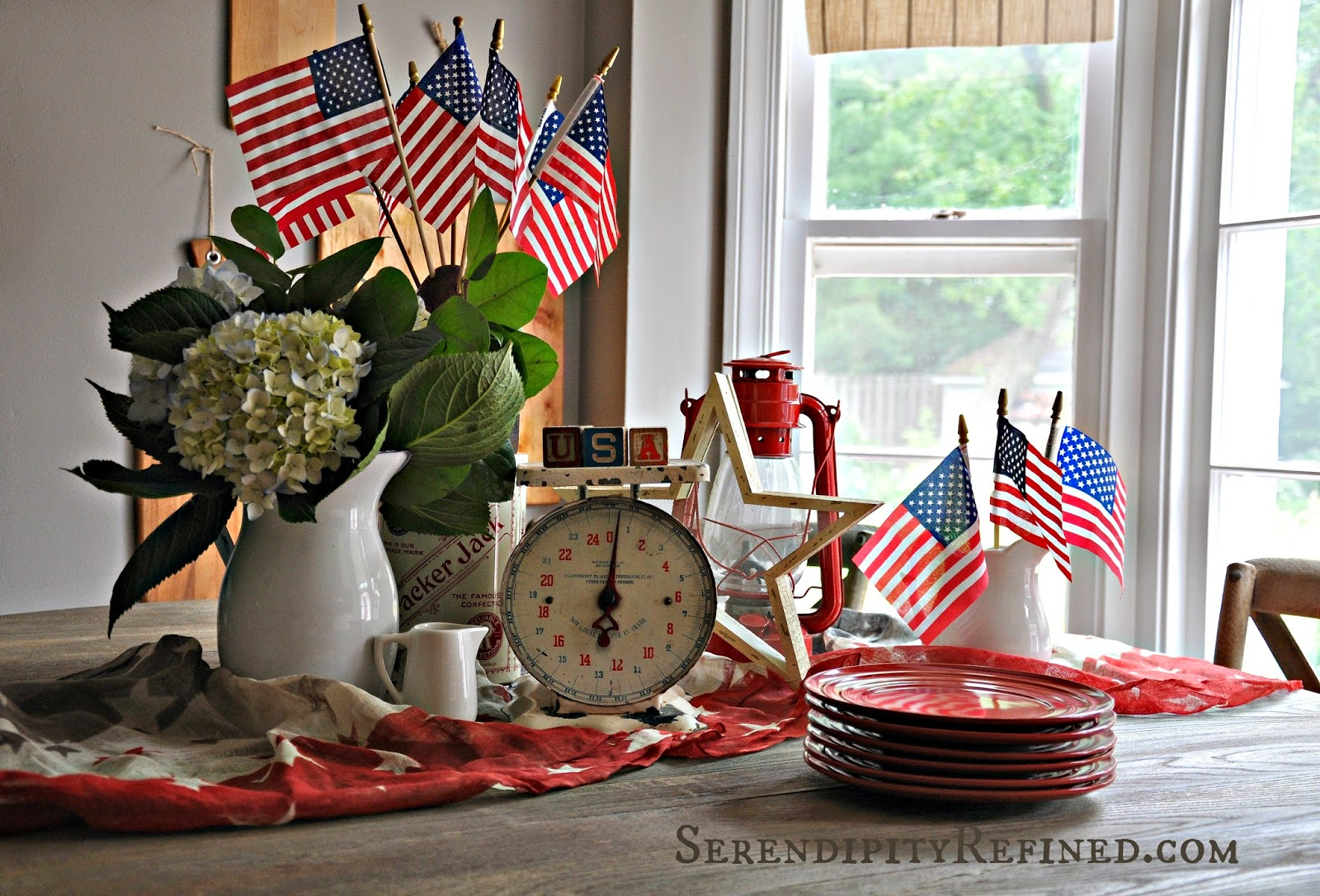 Serendipity Refined Blog: Vintage 4th Of July: Red White