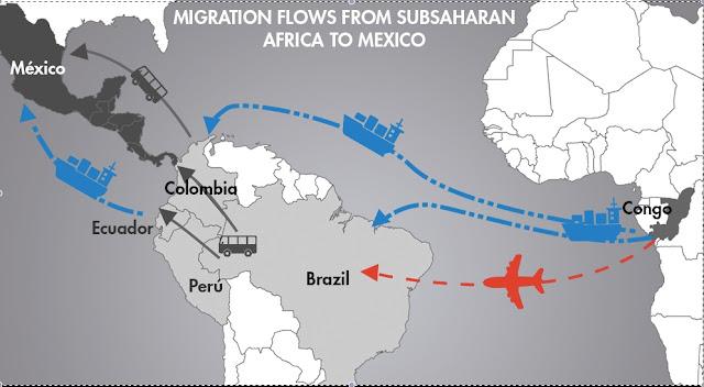 """Βάσει μυστικής συμφωνίας πλημμυρίζουν Μεξικό και ΗΠΑ με χιλιάδες Αφρικανούς """"πρόσφυγες"""""""