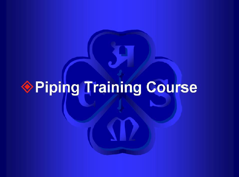 Download Piping Systems Training Course for plumbing engineers - free PDF