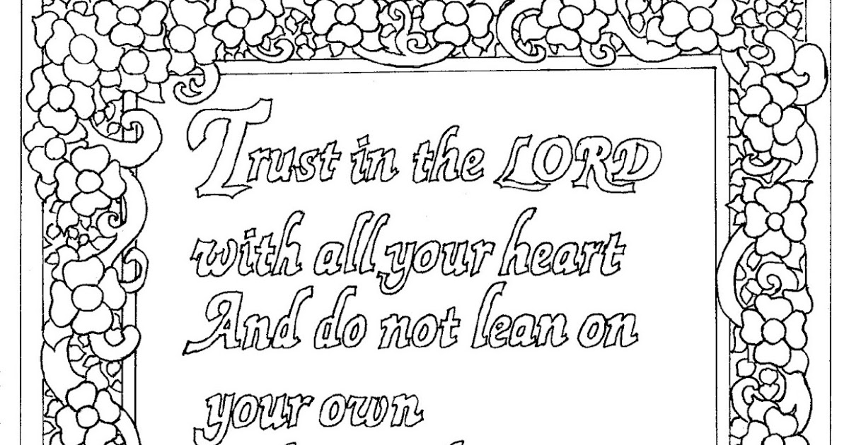 Coloring Pages for Kids by Mr. Adron: Printable Proverbs 3