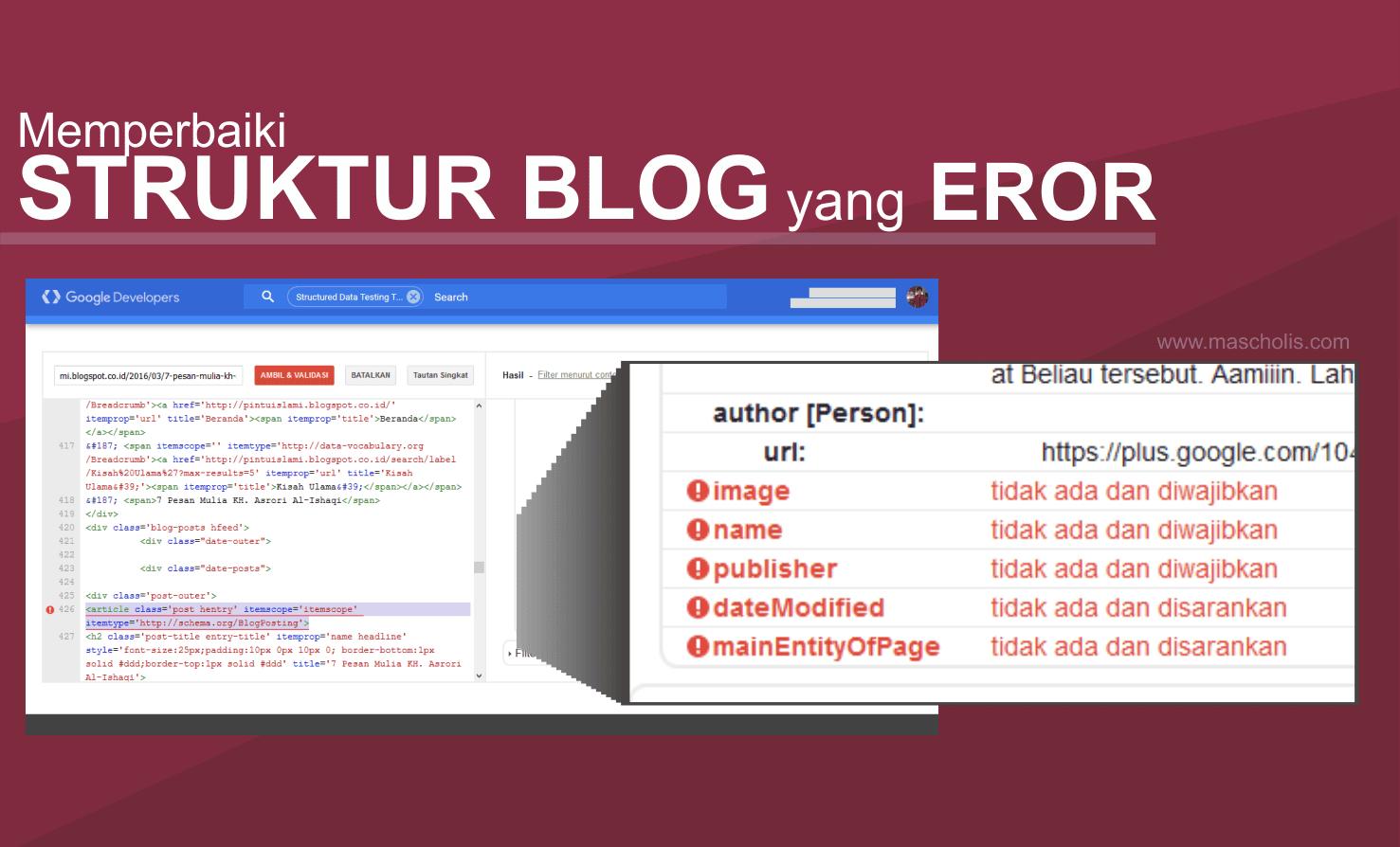 Cara Terbaru Memperbaiki Struktur Data Blog yang Error