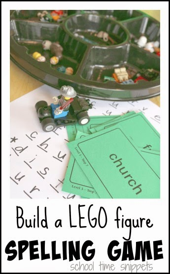 LEGO spelling game for kids